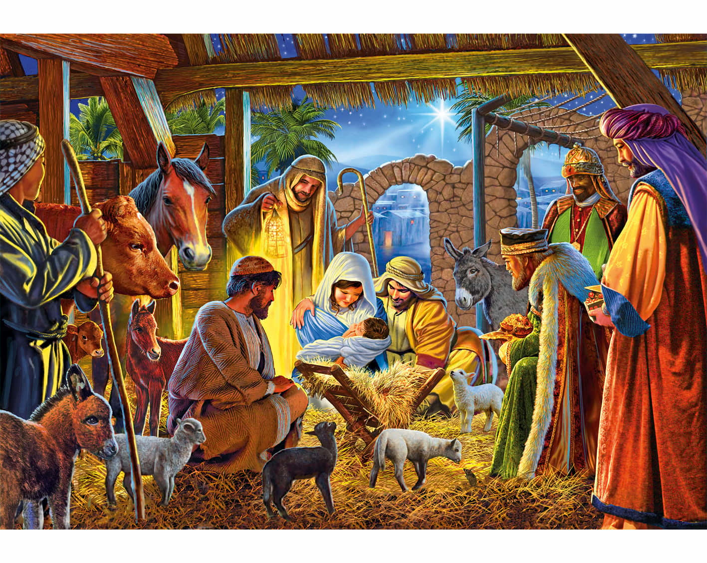 Nativity Scene Fine Art Jigsaw Puzzles