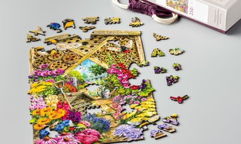 Groundhog-L Cassilia Wooden Jigsaw Puzzles Unique Animal Shaped Puzzle for Adults Cute Wooden Jigsaw Puzzles Irregular Pieces
