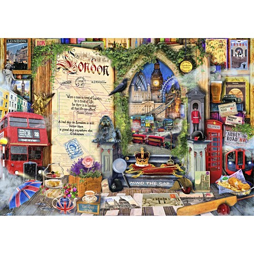 Life is an Open Book - London All Wooden Jigsaw Puzzles