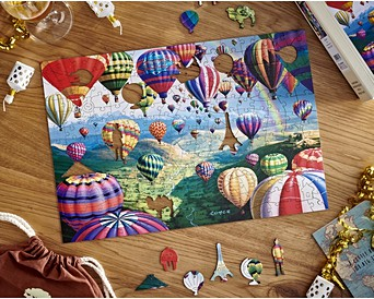 McClure Wooden Jigaw Puzzle Wentworth Sky Roads 40 Piece Royce B