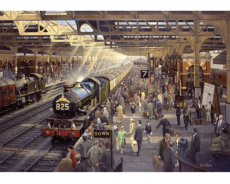 Holiday Time At Snow Hill All Wooden Jigsaw Puzzles