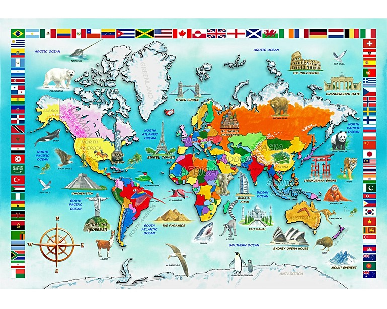 I Know my World Map All Wooden Jigsaw Puzzles